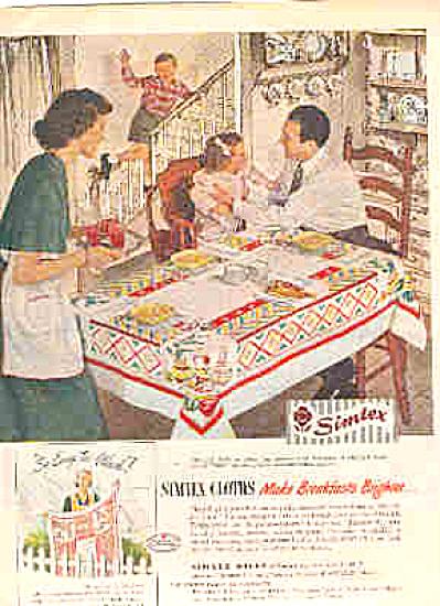 1949 Simtex Pueblo MEXICALI  Tablecloth Ad (Image1)