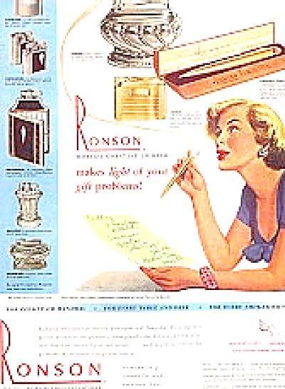 1949 Ronson Georgian, Newport, Lighter Ad (Image1)