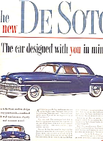 1949 DODGE DeSoto Car Ad Brillant Design (Image1)