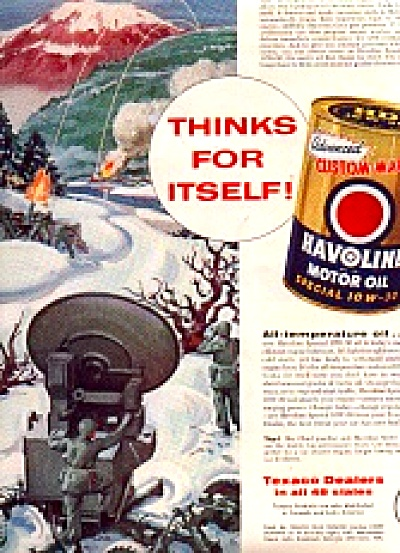 1956 Havoline MotorOil Counter Mortar RadarAd (Image1)