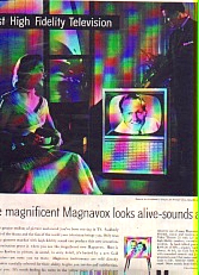1956 Magnavox High Fidelity Television Ad (Image1)