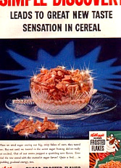 1956 Green Box Kelloggs Frosted Flakes Ad (Image1)