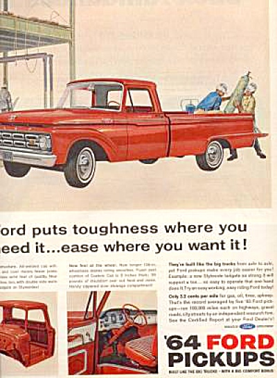 1964 Ford 100 Custom Cab Pickup Truck AD (Image1)