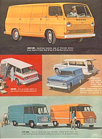 1964 New Chevy V AN AND SUV ad 2pg (Image1)