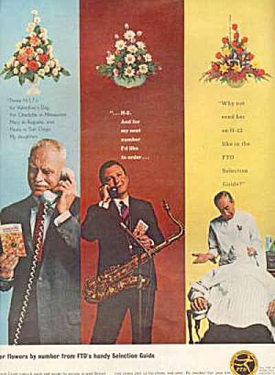 1965 FTD Men in flowers ad (Image1)
