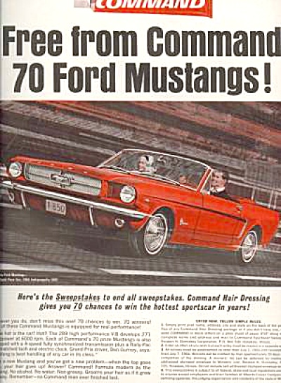 1964 Red Ford Mustang Man & Woman Ad #2 (Image1)