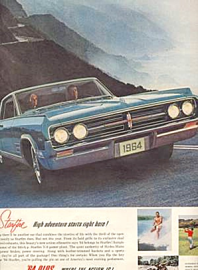 1964 OLDS STARFIRE Ad Water Sking, Golf and F (Image1)
