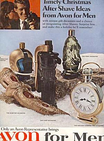 1968 AVON For Men Decanter Cologne Ad (Image1)