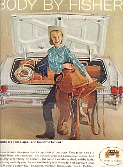 1964 BODY BY FISHER Cowgirl Ad (Image1)