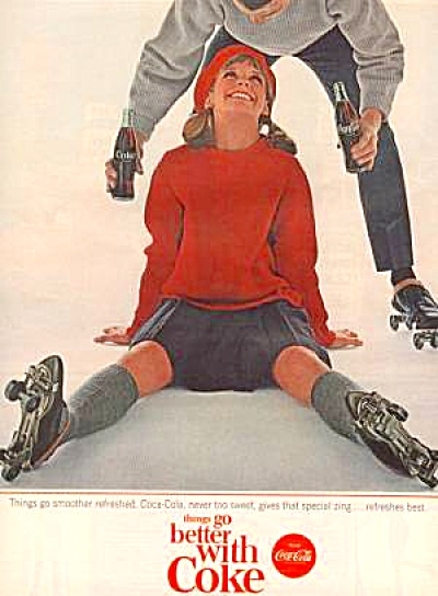 1964 COKE COLA Ad Holly Forsman Ice Skating (Image1)