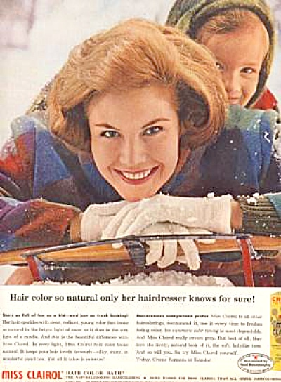 1961 Miss Clairol Hair Color Mother - Girl AD (Image1)