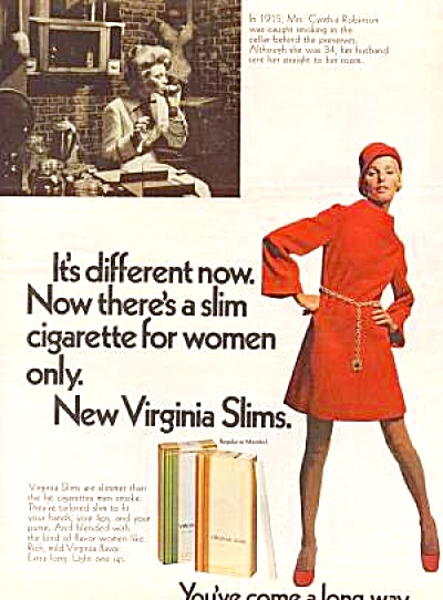1968 VIRGINA SLIMS CYNTHIA ROBINSON Ad (Image1)
