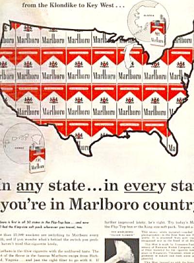 1964 MARLBORO U.S. MAP Ad (Image1)