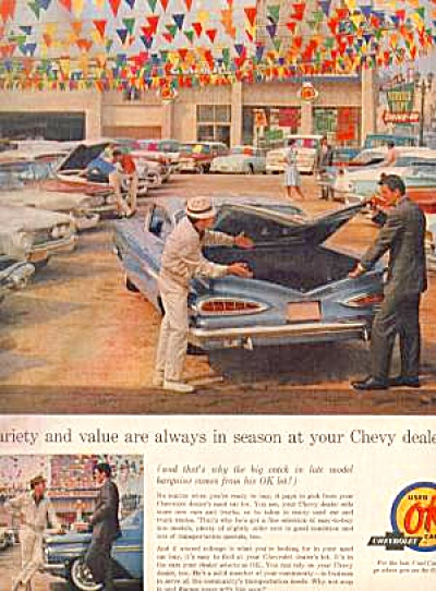 1963 OK USED VINTAGE CAR Ad Chevrolet (Image1)
