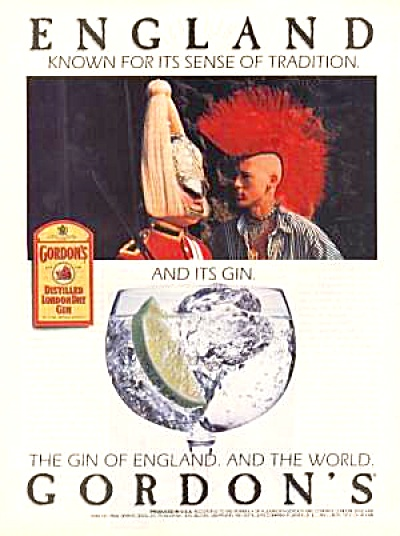 1988 GORDON�S ENGLAND GIN Ad (Image1)