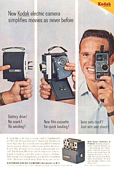 1965 KODAK ELECTRIC CAMERA Ad (Image1)