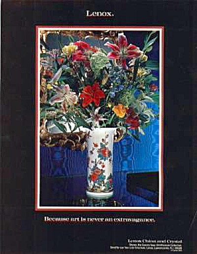 1988 LENOX VASE Ad (Image1)