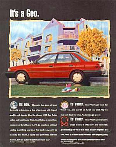 1988 CHEVROLET Chevy GEO Ad (Image1)