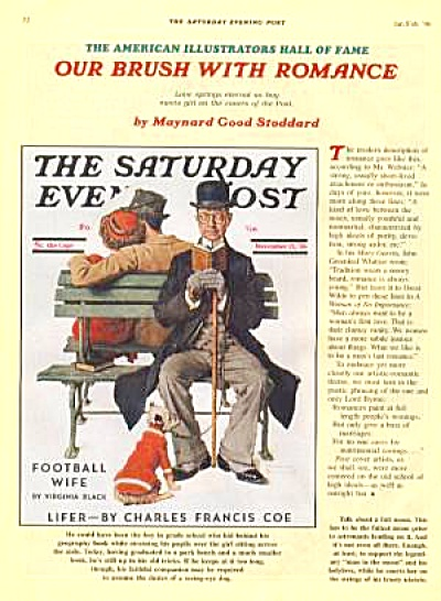 1988 SATURDAY EVENING POST Ad COUPLE ON BENCH (Image1)