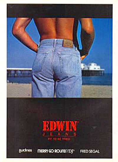 1989 EDWIN JEANS Ad (Image1)