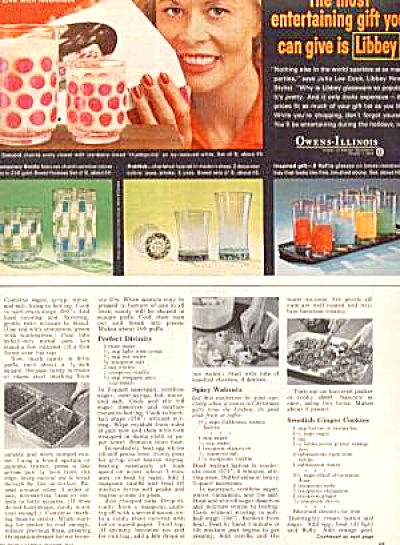 1963 LIBBEY Ad Concord/Raffia/Hobnob/Nordic (Image1)