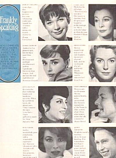 1963 Frankly Speaking Hepburn/parker Ad