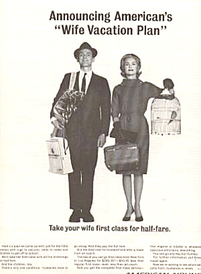 AMERICAN AIRLANES HUSBAND WIFE AD (Image1)