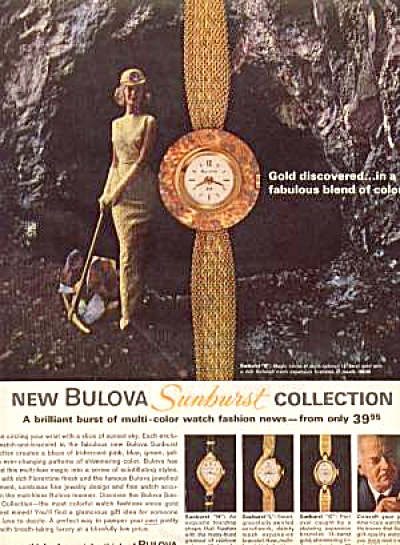 Bulova Sunburst Watches Ad