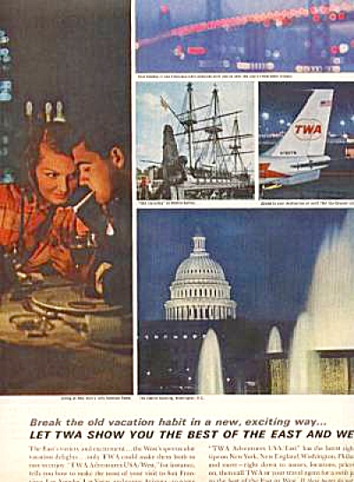 1963 TWA Airlines TRAVEL VACTION AD (Image1)