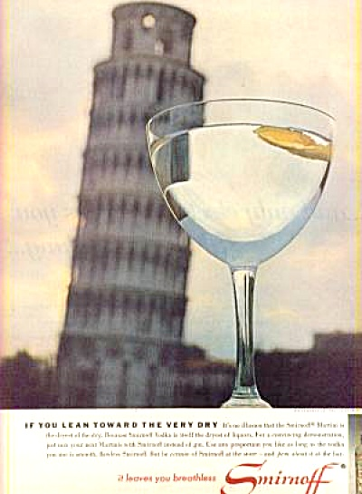 Smirnoff Leaning Tower Ad