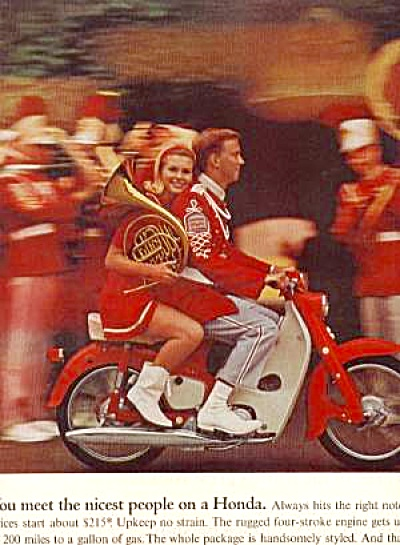 1966 HONDA MOTORCYCLE BAND AD (Image1)