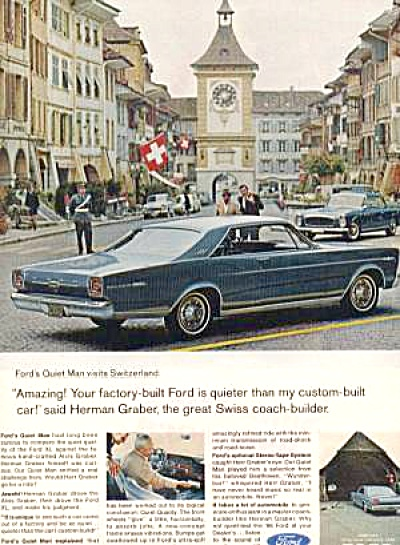 FORD GALAXIE 500 SWITZERLAND AD (Image1)