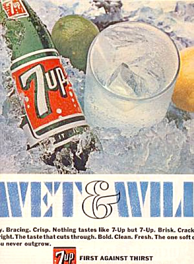 1964 7UP SEVEN UP Wet and WILD Ad (Image1)
