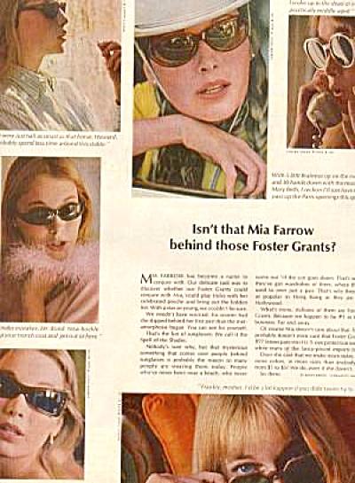 1964 Foster Grant Mia Farrow Ad (Image1)