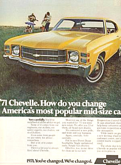 1971 CHEVELLE Chevrolet CAR Ad (Image1)