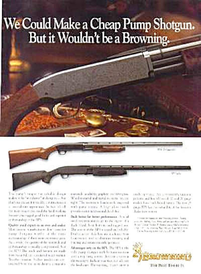 BROWNING PUMP SHOTGUNS Ad (Image1)