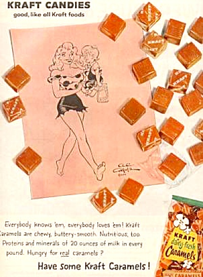 1959 Blondie Kraft Candies Ad