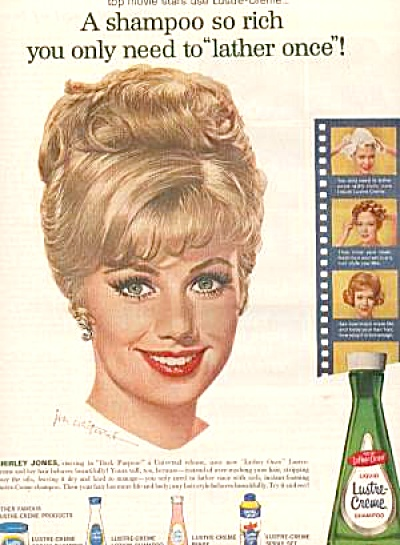 1963 Actress Shirley Jones Lustre Crème Ad