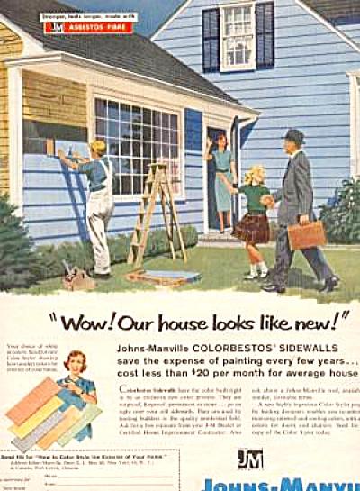 1954 Johns Manville Colorbestos Asbestos Ad (Image1)