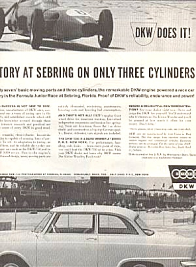 DKW Engine Mercedes Benz Racing Ad (Image1)