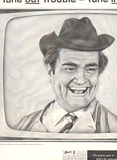 1961 ZENITH Red Skelton Television 2 pg  Ad (Image1)