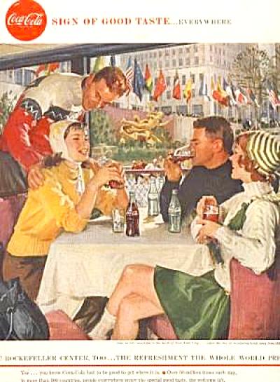 COKE  1958 Coca Cola Rockefeller Center AD (Image1)