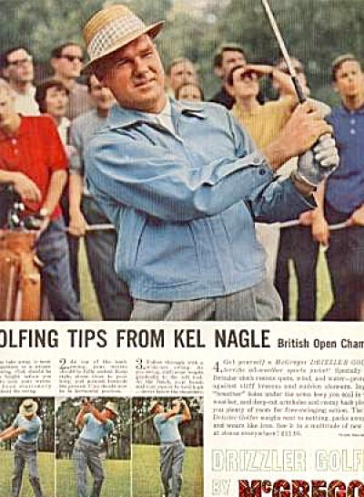 1961 Kel Nagle British Open Drizzle Golfer (Image1)