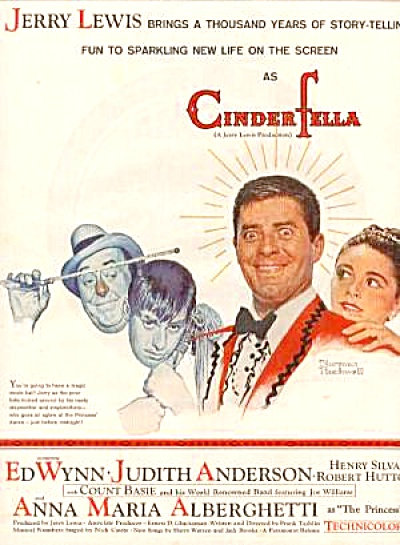 1960 Jerry Lewis Cinderfella Movie Ad