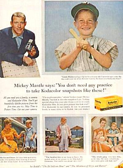 1959 Mickey Mantle Kodak Ad (Image1)