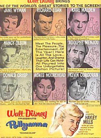 1960 Walt Disney Pollyanna Movie Ad (Image1)
