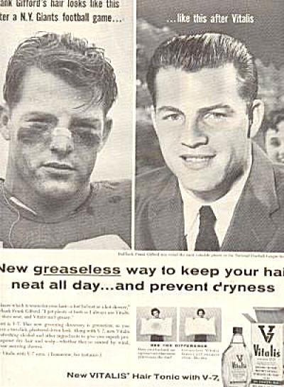 1957 Halfback Frank Gifford Vitalis Ad (Image1)