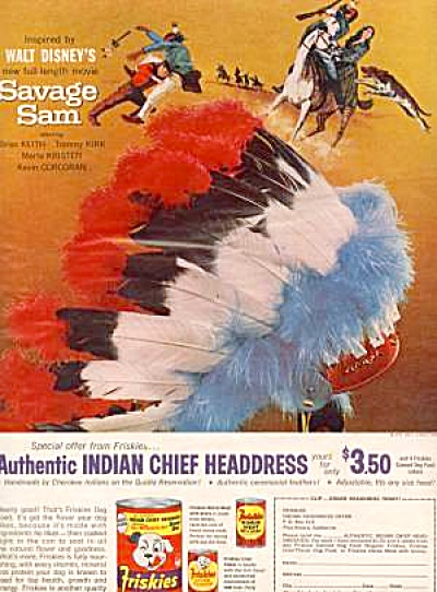 Walt Disney�s Savage Sam Headdress Movie Ad (Image1)