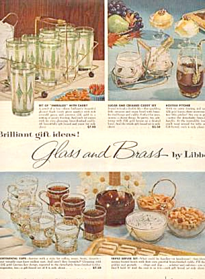 Libbey Glasses And Brass Owens Ad