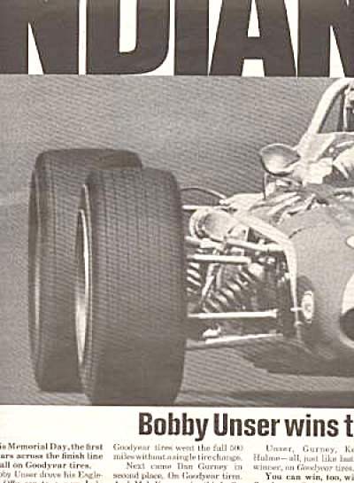 Bobby Unser Indianapolis 500 Goodyear Tire Ad (Image1)